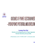 Outline of power sector in Viet Nam hrydropower potential and development plan