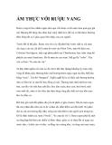 ẨM THỰC VỚI RƯỢU VANG