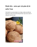 Bánh tiêu - món quà vặt giản dị từ miền NamMón bánh tiêu tuy giản dị, thậm