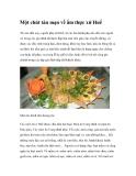 Một chút tản mạn về ẩm thực xứ Huế