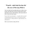 Wagashi – nghệ thuật ẩm thực độc đáo của xứ Phù tang (Phần I)
