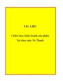 Đề tài: Chiến lược kinh doanh sản phẩm Trà thảo mộc Dr Thanh