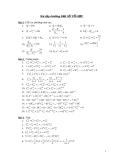 Bài tập tổ hợp(Luyện thi ĐH)