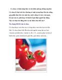 Cà chua và khả năng bảo vệ sức khỏe phòng chống ung thư