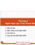 Chương 2 Ngôn Ngữ Lập Trình Visual Basic.Net