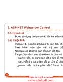 BÀI GIẢNG MÔN THIẾT KẾ  Webserver Control