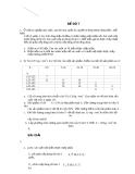 Đề thi môn toán xác suất thống kê