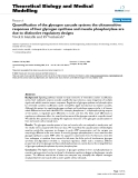 """Báo cáo y học: """"Quantification of the glycogen cascade system: the ultrasensitive responses of liver glycogen synthase and muscle phosphorylase are due to distinctive regulatory designs"""""""