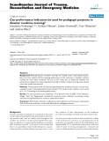 """Báo cáo y học: """"Can performance indicators be used for pedagogic purposes in disaster medicine training?"""""""