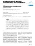"Báo cáo y học: "" Fibrinogen metabolic responses to trauma Wenjun Zhou Martini"""