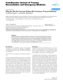 """Báo cáo y học: """" Why Do We Put Cervical Collars On Conscious Trauma Patients?"""""""