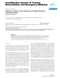 """Báo cáo y học: """"Infection control in burn patients: are fungal infections underestimated?"""""""
