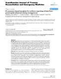 """Báo cáo y học: """"A consensus-based template for uniform reporting of data from pre-hospital advanced airway management"""""""