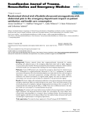 """Báo cáo y học: """" Randomized clinical trial of bedside ultrasound among patients with abdominal pain in the emergency """""""