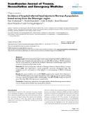"""Báo cáo y học: """"Incidence of hospital referred head injuries in Norway: A population based survey from the Stavanger region"""""""