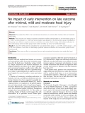 """Báo cáo y học: """" No impact of early intervention on late outcome after minimal, mild and moderate head injury"""""""