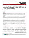 "Báo cáo y học: ""A first city-wide early defibrillation project in a German city: 5-year results of the Bochum against sudden cardiac arrest study"""
