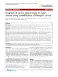 "Báo cáo y học: "" Diagnosis of carotid arterial injury in major trauma using a modification of Memphis criteria"""