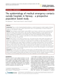 "Báo cáo y học: ""The epidemiology of medical emergency contacts outside hospitals in Norway - a prospective population based study"""