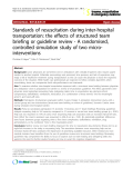 "Báo cáo y học: "" Standards of resuscitation during inter-hospital transportation: the effects of structured team briefing or guideline review - A randomised, controlled simulation study of two microinterventions"""