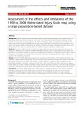"""Báo cáo y học: """"Assessment of the effects and limitations of the 1998 to 2008 Abbreviated Injury Scale map using a large """""""