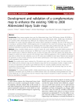 """Báo cáo y học: """" Development and validation of a complementary map to enhance the existing 1998 to 2008 Abbreviated Injury Scale map"""""""