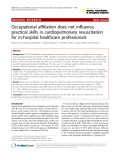 """Báo cáo y học: """"Occupational affiliation does not influence practical skills in cardiopulmonary resuscitation for in-hospital healthcare professionals"""""""