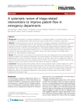 """Báo cáo y học: """"A systematic review of triage-related interventions to improve patient flow in emergency departments"""""""