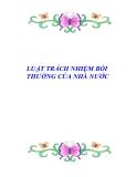 Tài liệu về LUẬT TRÁCH NHIỆM BỒI THƯỜNG CỦA NHÀ NƯỚC
