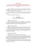 PHÁP LỆNH CỦA ỦY BAN THƯỜNG VỤ QUỐC HỘI VỀ GIỐNG VẬT NUÔI