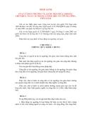 PHÁP LỆNH CỦA ỦY BAN THƯỜNG VỤ QUỐC HỘI VỀ TÍN NGƯỠNG, TÔN GIÁO
