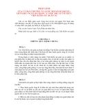 PHÁP LỆNH CỦA ỦY BAN THƯỜNG VỤ QUỐC HỘI VỀ TỔ CHƯC VIỆN KIỂM SOÁT QUÂN SỰ
