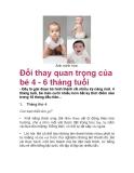 Đổi thay quan trọng của bé 4 - 6 tháng tuổi