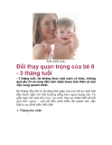 Đổi thay quan trọng của bé 0 - 3 tháng tuổi