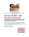 Cho bé bú đêm - tiện cho mẹ, lợi cho bé