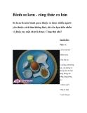 Bánh su kem - công thức cơ bản