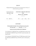 Mẫu Quyết định phê duyệt thiết kế dự toán