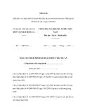 Mẫu số 06 Mẫu Báo cáo thẩm định kế hoạch đấu thầu dự án ban hành kèm theo Thông tư số 65/2011/TT-BCA ngày 30/9/2011