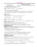Đề thi thử đại học toán trường chuyên Vĩnh Phúc