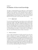INTRODUCTION TO KNOWLEDGE DISCOVERY AND DATA MINING - CHAPTER 7
