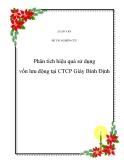 """Đề tài """" Phân tích hiệu quả sử dụng vốn lưu động tại CTCP Giày Bình Định  ''"""