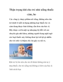 Thận trọng khi cho trẻ nhỏ uống thuốc cảm, ho