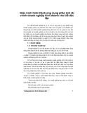 Giáo trình hình thành ứng dụng phân tích tài chính doanh nghiệp kinh doanh chủ thể độc lập p1