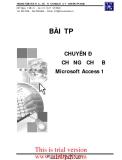 CHUYÊN ĐỀ CHỨNG CHỈ B Microsoft Access 1