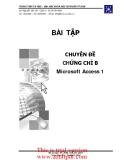 CHUYÊN ĐỀ CHỨNG CHỈ B Microsoft Access