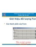 Giới thiệu đối tượng Form