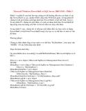 Microsoft Windows PowerShell và SQL Server 2005 SMO – P5