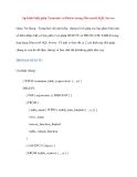 Sự khác biệt giữa Truncate và Delete trong Microsoft SQL Server