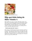 Hậu quả khôn lường do thiếu vitamin A