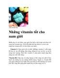 Những vitamin tốt cho nam giới